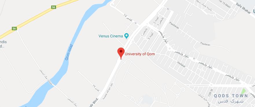 Qom University Map